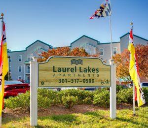 Laurel Lakes exterior sign
